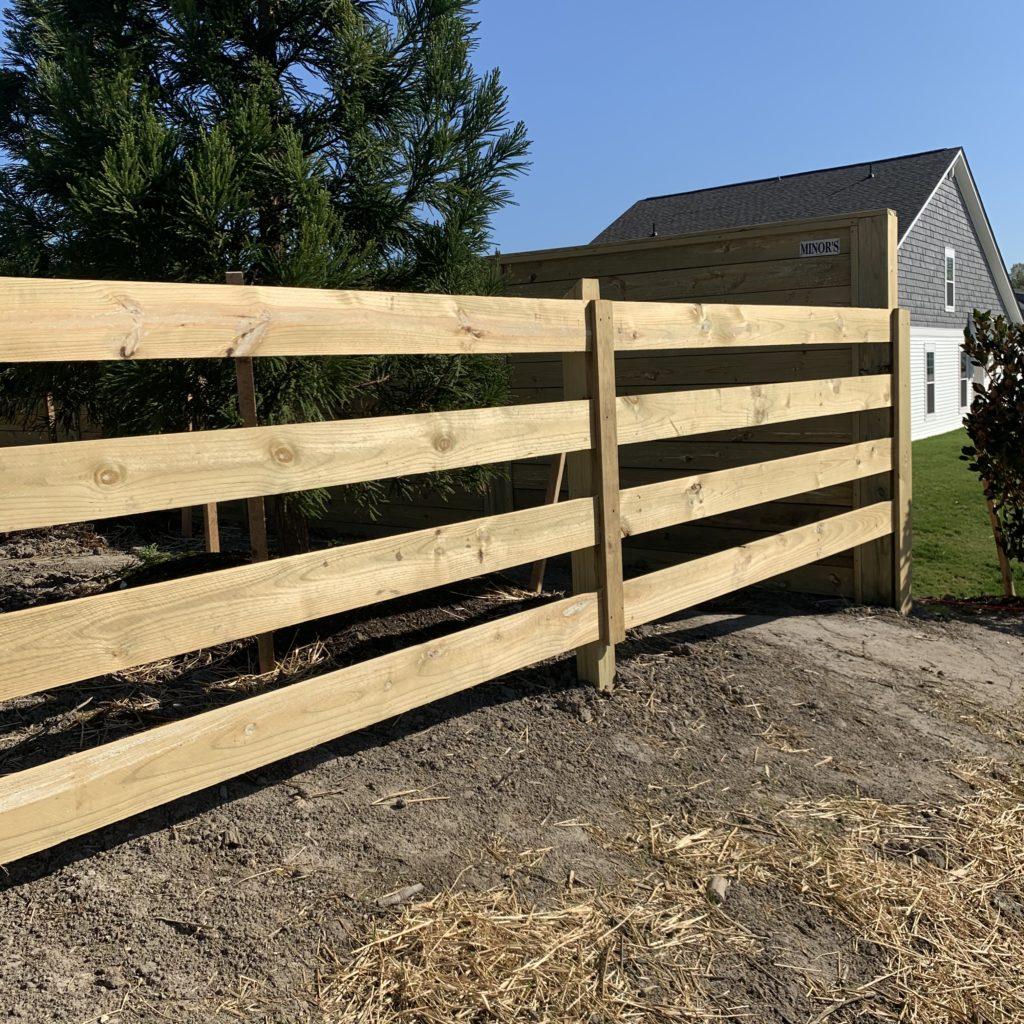 4 board horizontal board fence